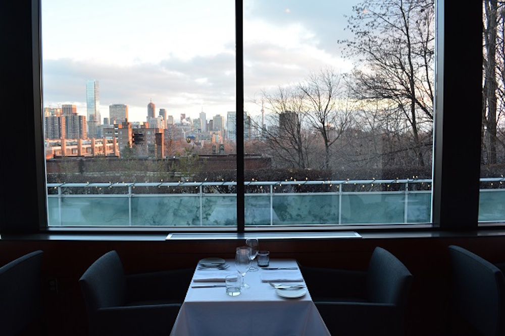 Scaramouche, Scaramouche Restaurant, Forest Hill, ravine, downtown Toronto, romantic restaurant, downtown Toronto view, table for two, romance
